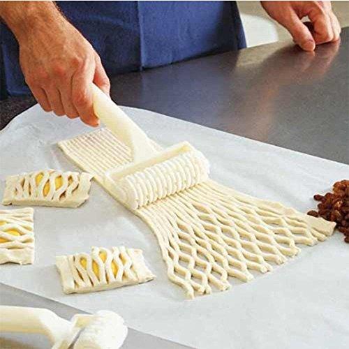 Saasiiyo Hot Sale Plastic Baking Tool Cookie Pie Pizza Pastry Lattice Roller Cutter Craft Cooking Tools Kitchen Accessories Cocina Gadget