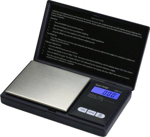 Smart Weigh SWS1KG Elite Series Digital Pocket Scale 1000 by 01gm Black