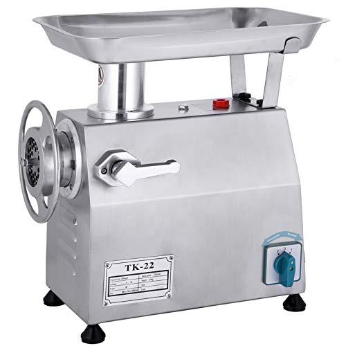 Happybuy Electric Meat Grinder 850W 550LbsH Commercial Sausage Maker Stainless Steel for Restaurant Butcher Kitchen 550LB Sliver
