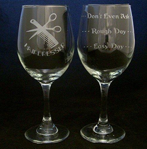 Hairdresser Good Day Bad Day Wine Glass Hairdresser Gift Beautician gift Christmas Gift