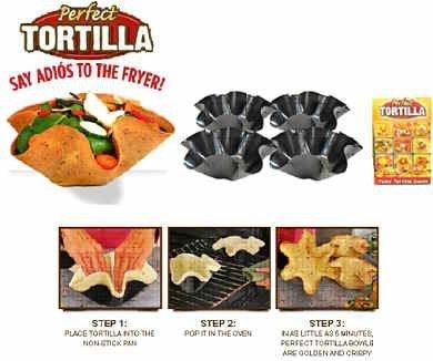 Perfect Tortilla Pan Set 6 Pack24 Pieces