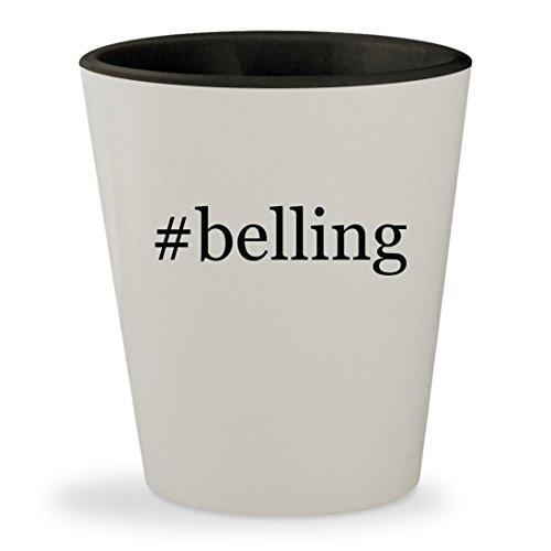 belling - Hashtag White Outer Black Inner Ceramic 15oz Shot Glass