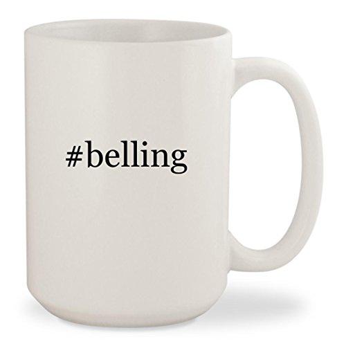 belling - White Hashtag 15oz Ceramic Coffee Mug Cup