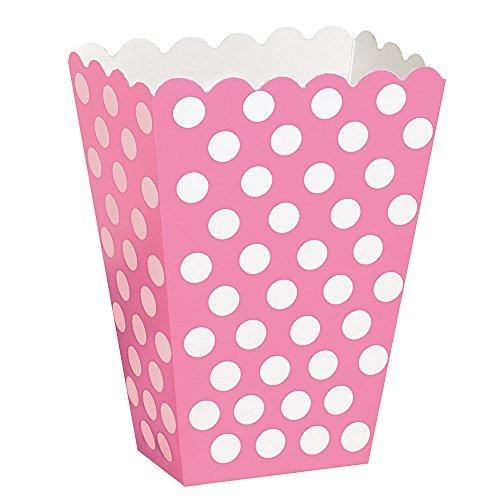 Hot Pink Polka Dot Popcorn Treat Boxes 8ct