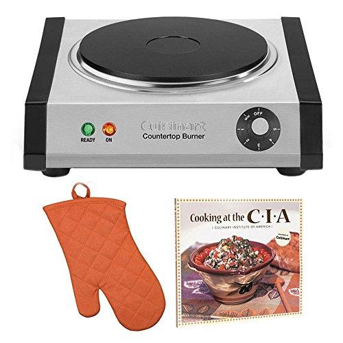 Cuisinart CB30 Countertop Single Burner  Free Oven Mitt and Cookbook