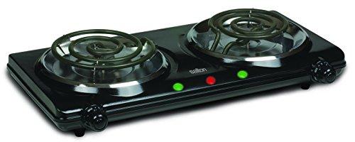 Salton HP1427 Portable Cooking Range Double Burner Black