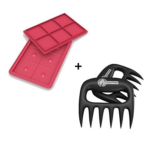 Burger Press  Pulled Pork Shredder Claws - STRONGEST BBQ MEAT FORKS - Shredding Handling Carving Food - Claw Handler Set for Pulling Brisket from Grill Smoker or Slow Cooker - Barbecue Paws
