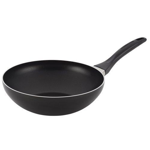 Farberware Dishwasher Safe Aluminum Nonstick 10-1/2-inch Stir Fry, Black