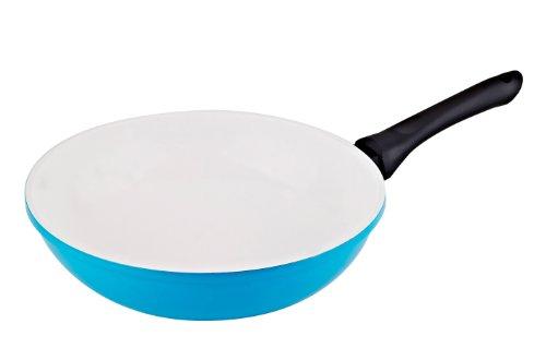 Vinaroz Die Cast Aluminum wok with Ceramic Coating 30-Cm Blue