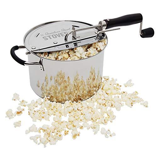 Time for Treats VKP1160 StovePop Stove-Top Popcorn Popper 6 Quart Stainless Steel