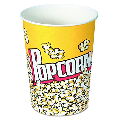 SOLO V32-00061 Treated Paper Popcorn Cup 32 oz Capacity Popcorn Print Case of 500