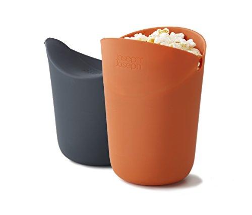 Joseph Joseph 45018 M-Cuisine Microwave Popcorn Popper Maker Single Serve Portion Silicone Food Safe 2-piece Multicolored