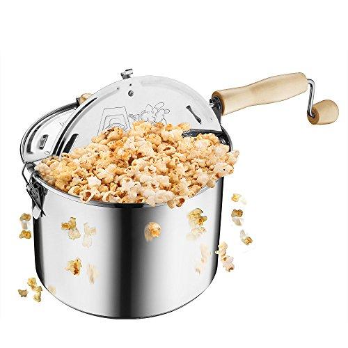 Great Northern Popcorn Original Stainless Steel Stove Top 6-12-Quart Popcorn Popper