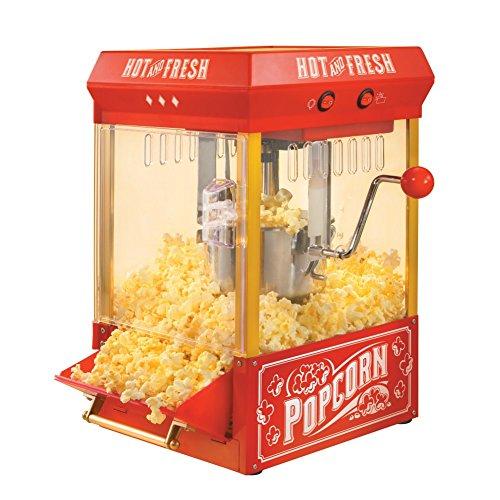 Nostalgia Electrics 25 Oz Vintage Kettle Popcorn Maker Tabletop Popper