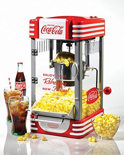 Nostalgia RKP630COKEBUN Coca-Cola Kettle Popcorn Popper - Bonus Bundle