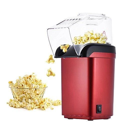 Anself Mini Hot Air Oil-free Popcorn Making Machine Maker Corn Poping Popper MY-B001 Red