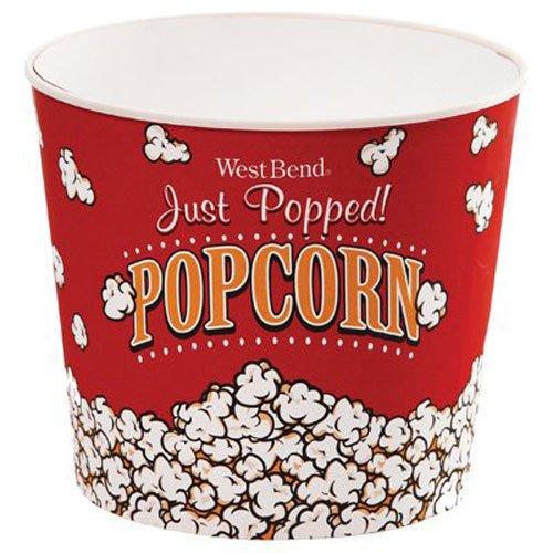 West Bend PC10636 Reusable Theater Popcorn Bucket Dishwasher-Safe 7-Quart Red