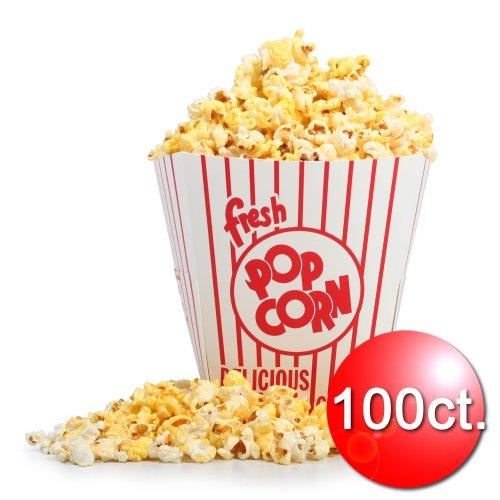 85 oz Open Top Movie Theater Popcorn Bucket 100 Count
