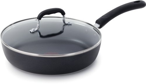 T-fal E93897 Professional Total Nonstick Thermo-spot Heat Indicator Fry Pan With Glass Lid Cookware, 10-inch,