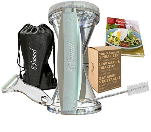 Clear Cut Spiral Slicer Spiralizer - Vegetable Cutter - Zucchini Pasta Noodle Spaghetti Maker