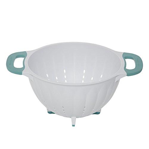 KitchenAid Pasta StrainerColander 5-Quart WhiteAqua Sky - KC166OSAQA