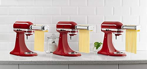 KitchenAid RKSMPRA 3-Piece Pasta Roller Cutter Attachment Set Renewed