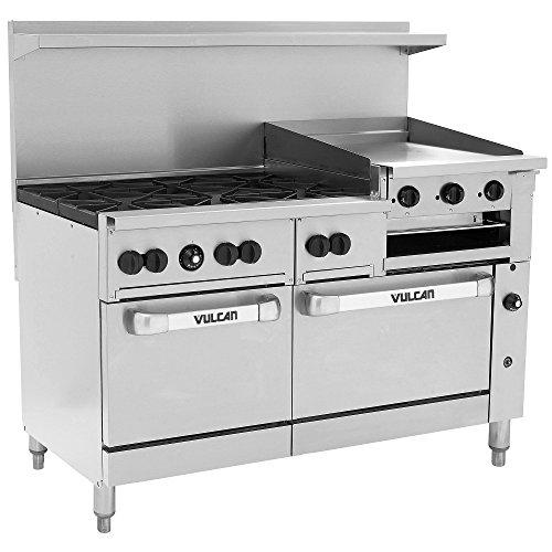Vulcan 60SS-6B24GB 60 Endurance Restaurant Range w Griddle Broiler Two Standard Ovens