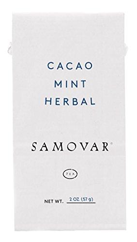 Samovar Tea Lounge Cacao Mint Herbal Infusion Organic 2 Ounce