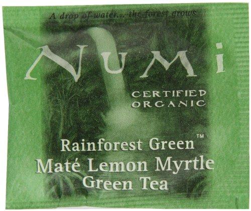 Numi Organic Tea Mate Lemon Yerba Mate Green Tea and Lemon Myrtle 100 Count non-GMO Bulk Tea Bags