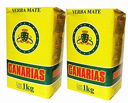 Yerba Mate Canarias 2 Pack 2kg - 44lbs