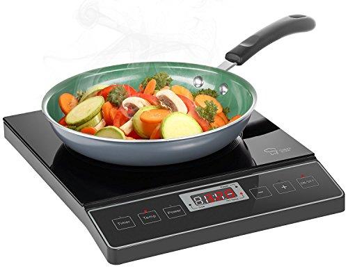 Chefs Star 1800W Portable Induction Cooktop Countertop Burner - 120V  60Hz - Black