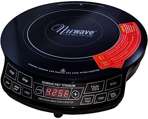 NuWave PIC 1800W Portable Induction Cooktop Countertop Burner Titanium