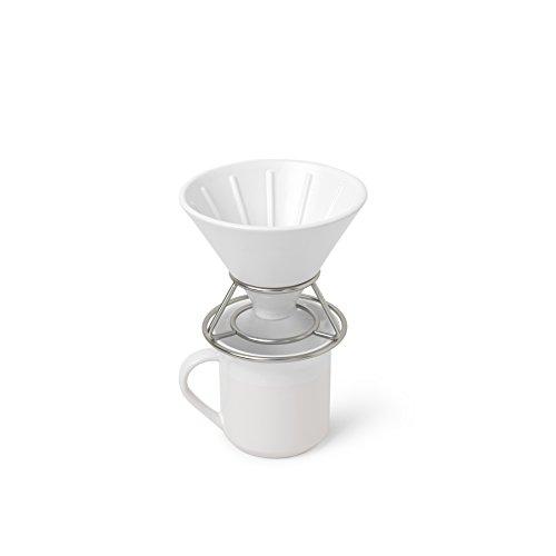 Umbra 1008117-670 Perk Coffee Pour Over WhiteNickel