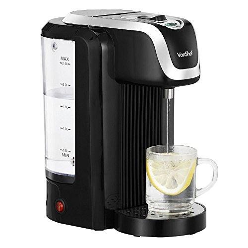 VonShef 220 240 Volts Instant Black Hot Water Dispenser Kettle 25 Liter Capacity Maximum 2600W  Bundled With Dynastar Plug Adapters  220v 240v NOT FOR USA