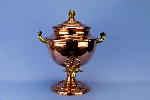 Samovar Hot Water Urn Large Copper Kettle Victorian Antique English Mid 19th Century Brass Decorative Vase