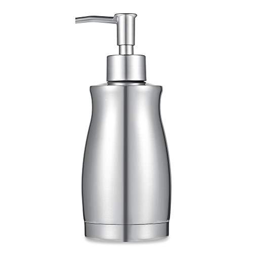 ARKTEK Soap Dispenser - Stainless Steel Rust and Leak Proof System Hand Soap Dispenser Kitchen and Bathroom Pump for Liquid 135 Ounce  400ML