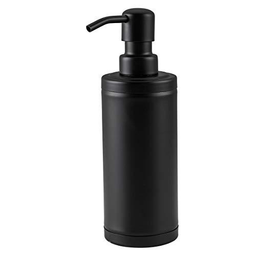 GAPPO Matte Black Soap Dispenser Stainless Steel Metal Pump Hand Lotion Bottle for Bathroom Bedroom and Kitchen