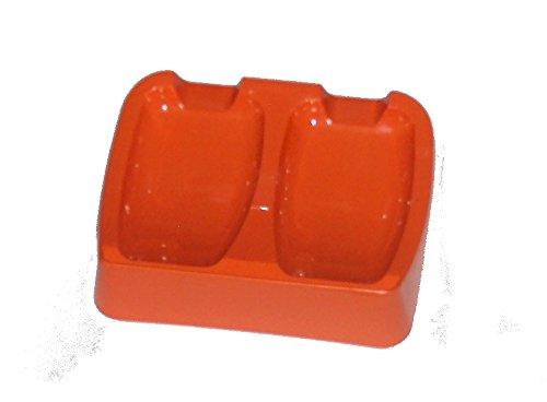 Vintage Tupperware Gadget Double Spoon Rest Retro Kitchen Orange