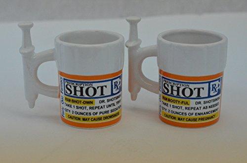 Fairly Odd Novelties Syringe Prescription Shot Glasses 2 Pack White