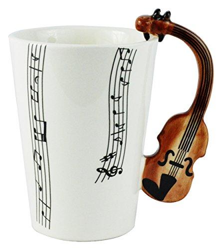 Fairly Odd Novelties Violin Musical Coffee Mug White