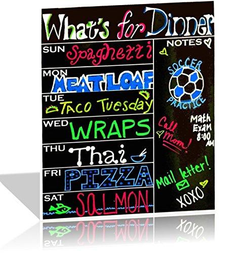 Magnetic Dry Erase Weekly Fridge Meal Planner and Menu Board