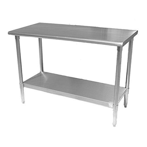 Work Table Food Prep Worktable Restaurant Supply Stainless Steel 14 x 96