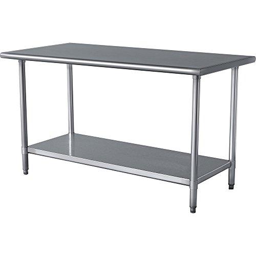 Work Table Food Prep Worktable Restaurant Supply Stainless Steel 24 X 60