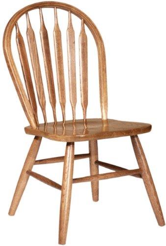 Dooleys 3107 Solid Oak Arrowback Dining Chair 17-34 Length x 17-34 Width x 37-12 Height Harvest Finish