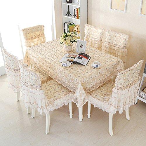 Table Cloth Chair Chair Cushion SetBig Round Table ClothFabric Round Living Room Dining Table And Chair Set Chair Chair Garden Tablecloth-C 110x150cm43x59inch