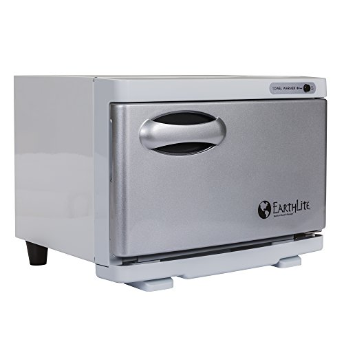 EARTHLITE Hot Towel Warmer Cabinet Mini - UV Sanitizing UL Listed Rust Proof Interior Aluminum Door Extra Hot 1 Year Warranty 8L