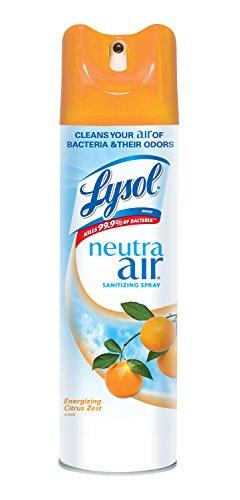 Lysol Neutra Air Sanitizing Spray Citrus Zest 10oz Air Freshener Odor Neutralizer