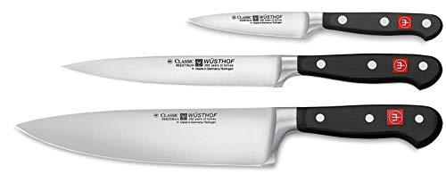 Wüsthof - Three Piece Cooks Set - 3 12 Paring Knife 6 Utility Knife and 8 Cooks Knife 9608