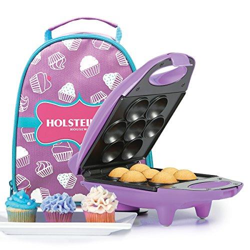 Holstein Housewares HM-09101P-BU Mini Cupcake Maker Kit - Purple