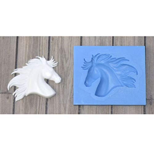 Cute Funny DIY 3D Horse Head Silicone Mold Making Ice Blocks Candy Fondant Chocolates Soaps Cakes Mousse Jelly Candles